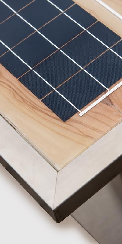 GK Electrics Solartable Nahaufnahme