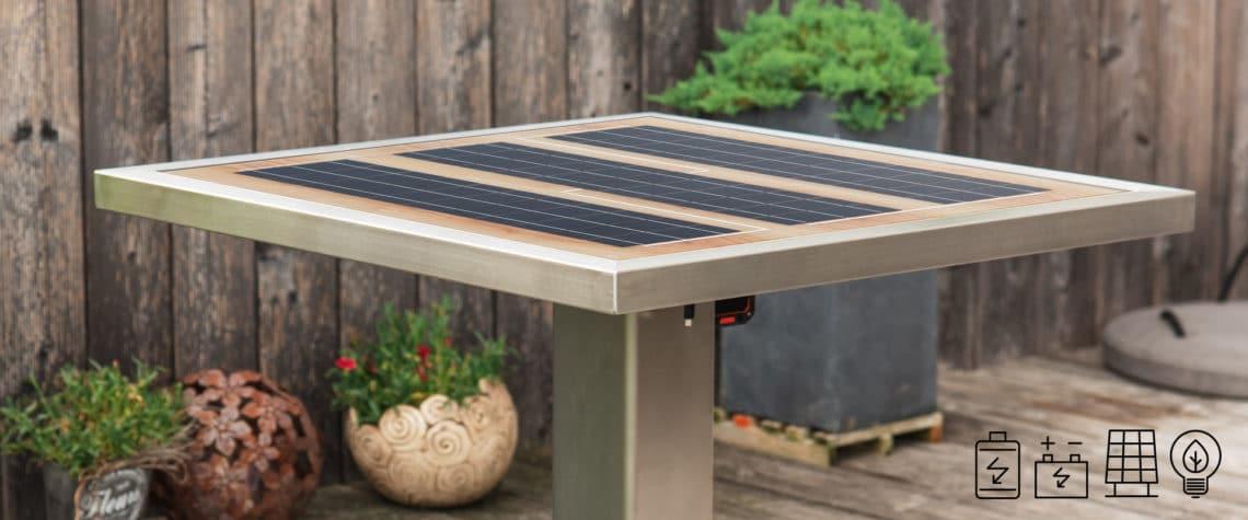 GK Electrics Solartisch mit Aufladefunktion