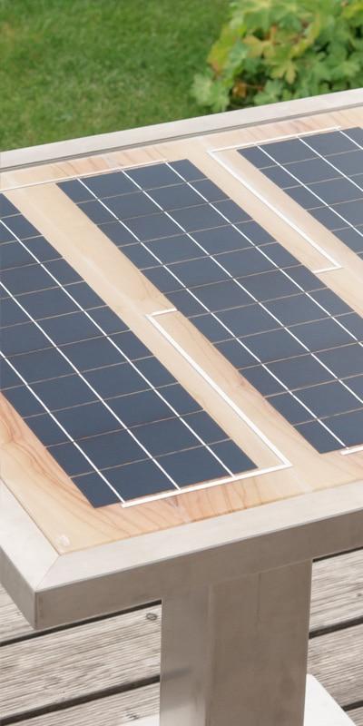 GK Electrics Solartisch Nahaufnahe